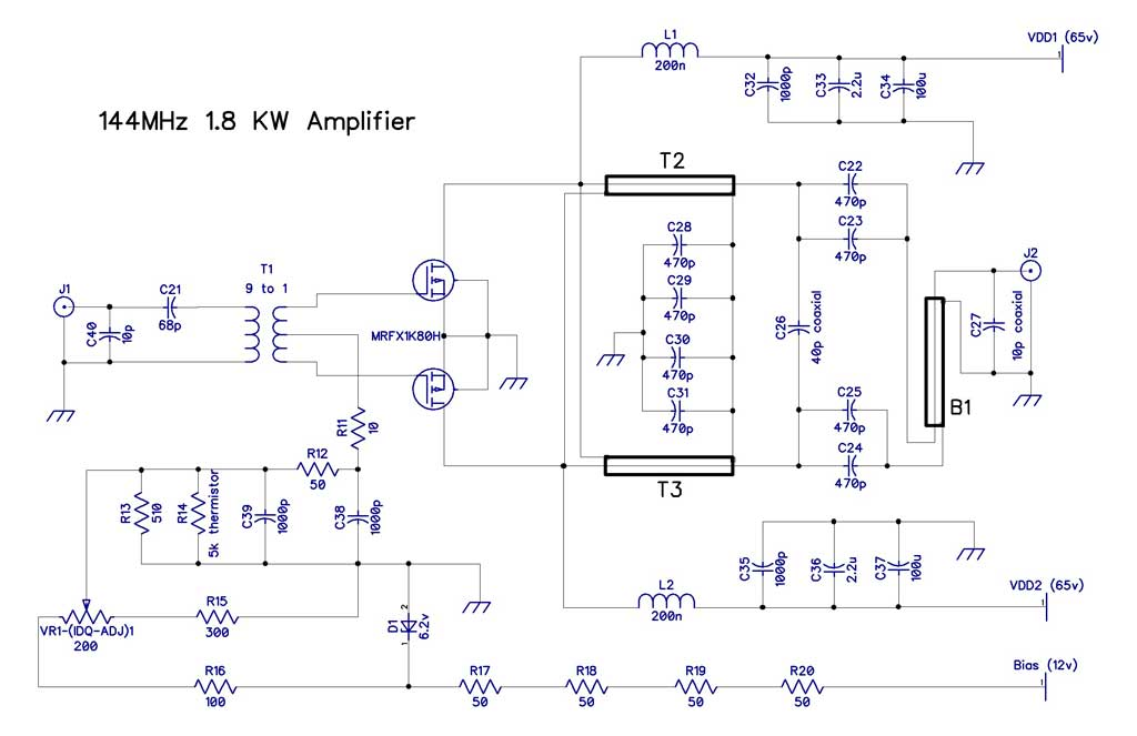1 KW 2M LDMOS Amplifier