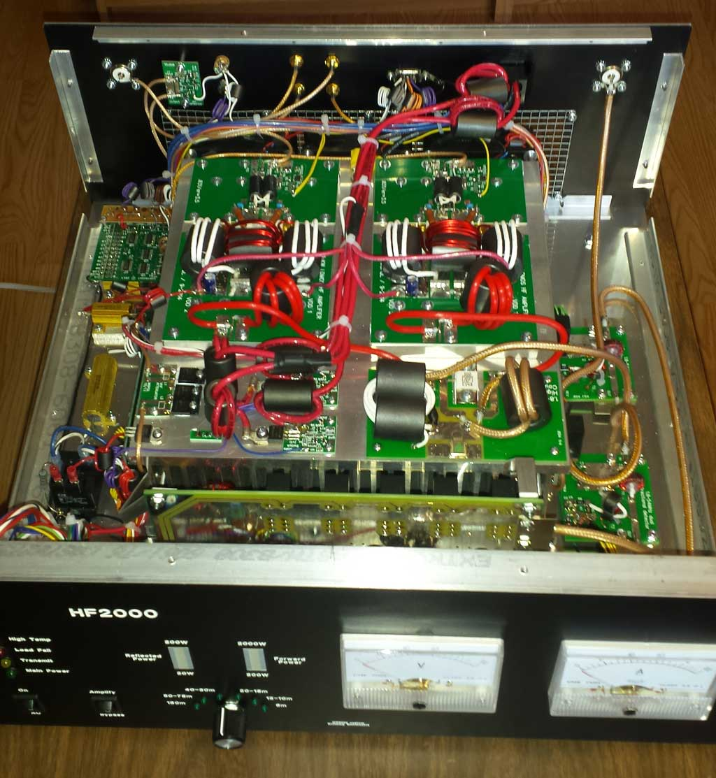 1 Kw Sspa For 18 54 Mhz 300w High Power Amplifier Diy Circuit Plugging In The Control Cable From K3 Automatically Disables Front Panel Band Switch On A Couple More Photos Of Interior