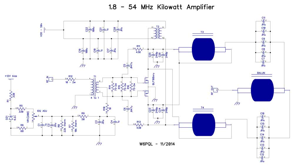 1 KW SSPA for 1.8-54 MHz
