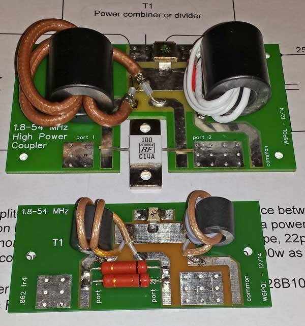 1 8 to 54 MHz combiner set