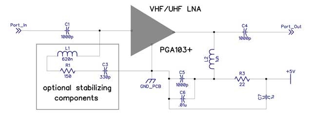 LNAs (preamps) and MMICs