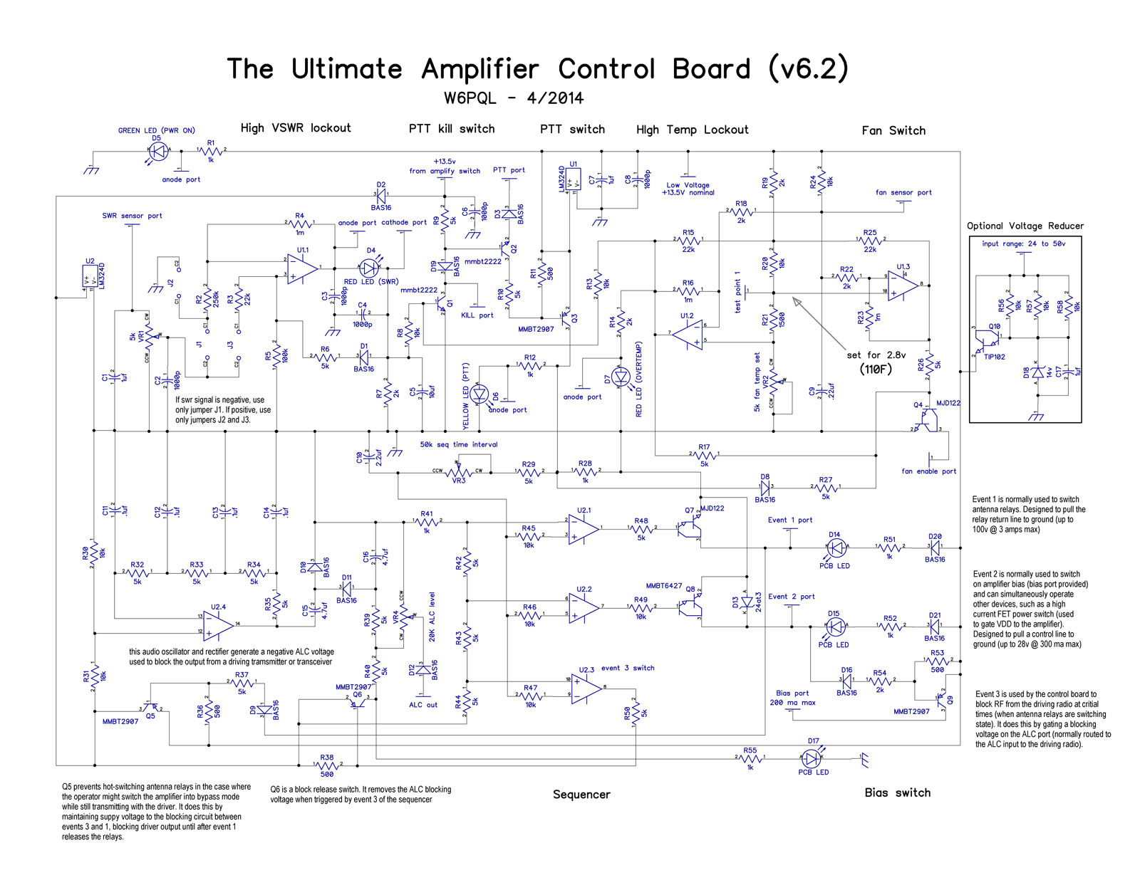 Amplifier Control Board Power Switchover Relay Here Is The Schematic For Version 62